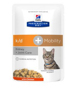 Hill's Prescription Diet k/d + Mobility Feline Sachets au Poulet