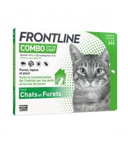 Frontline Combo Chat - Pipettes antipuces et antitiques